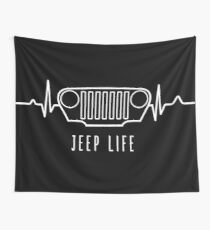JEEP LIFE (white) Wall Tapestry