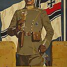 German Army officer holding a glass of Sekt by edsimoneit