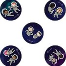 Space Baby - Baby Stickers by Lingthusiasm