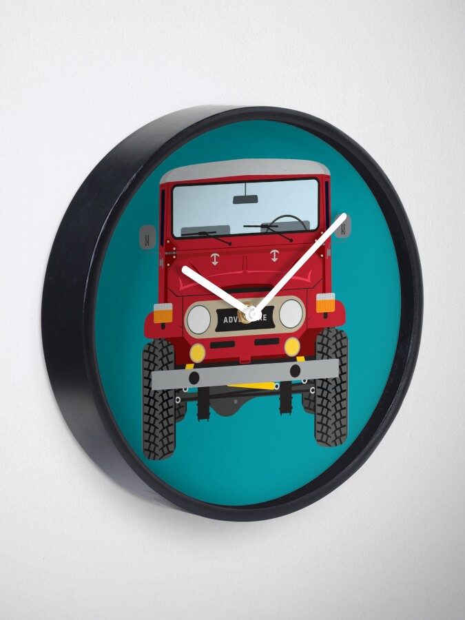 Alternate view of Toyota FJ40 (red) Clock