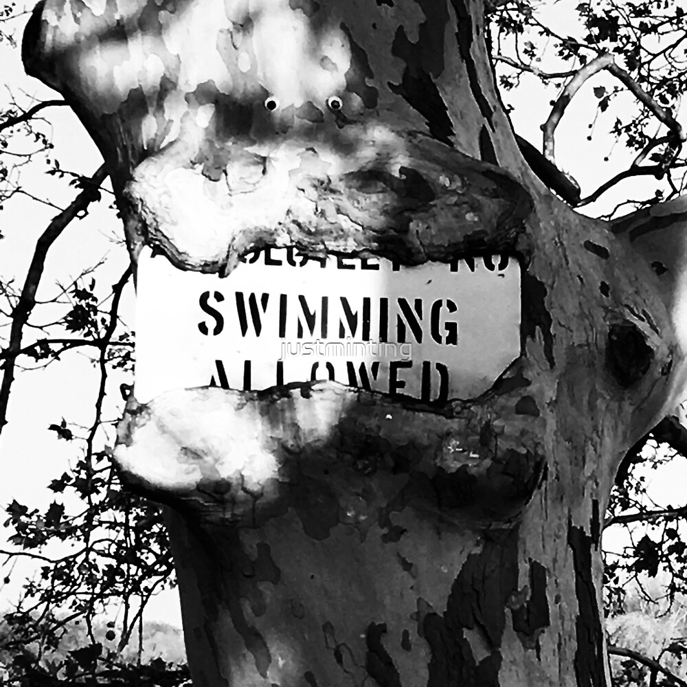 No Swimming Nom Nom by justminting