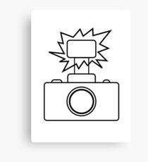 Camera SLR Flash_outline Canvas Print