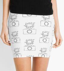 Camera SLR Flash_outline Mini Skirt