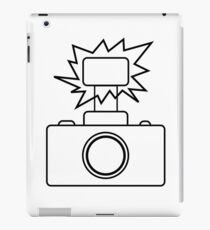 Camera SLR Flash_outline iPad Case/Skin