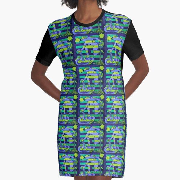 Hexagram 58: Tui (Joy) Graphic T-Shirt Dress
