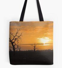 Farm Trees At Sunset  Tote Bag