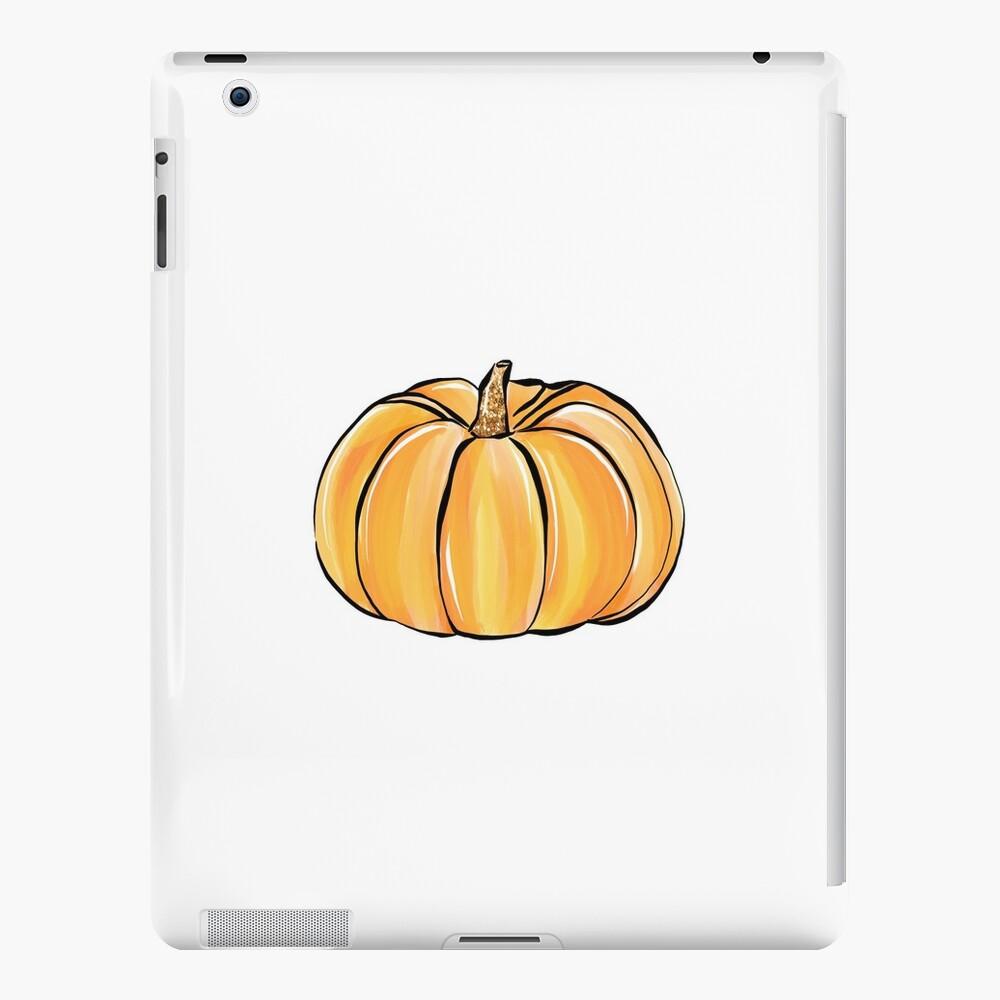 Nette Kürbis-Illustration mit Funkeln iPad-Hüllen & Klebefolien