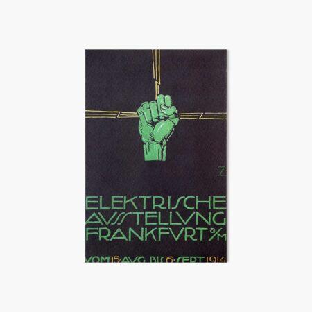 Electricity Show 1914 Frankfurt am Main Art Board Print