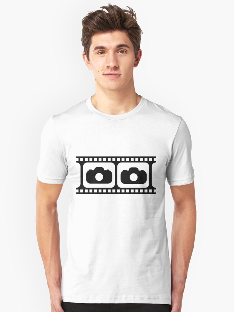 Film strip camera large Unisex T-Shirt Front