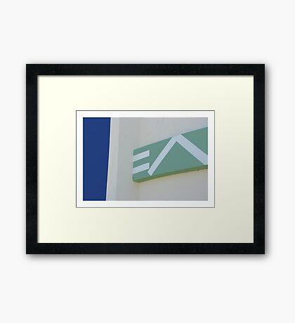 E A Framed Print