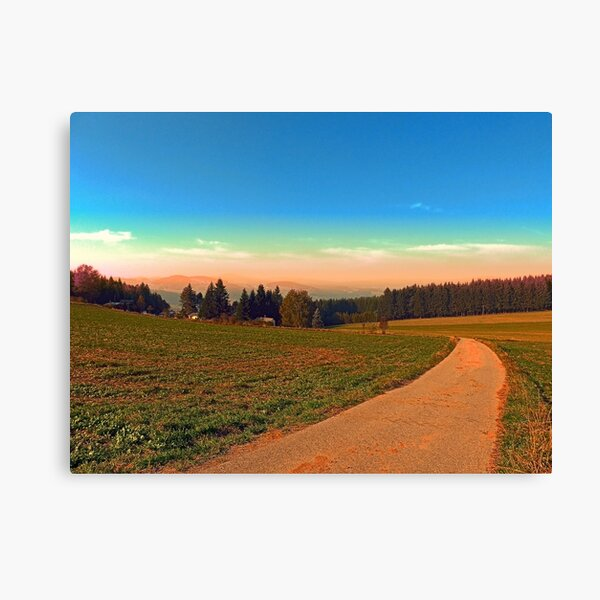 Hiking into the sunset | landscape photography Canvas Print