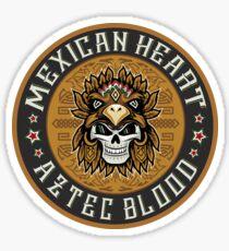 Pegatina Corazon Mexicano, Sangre Azteca