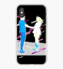 Pair partnership Eighties Retro Violet and Purple iPhone Case