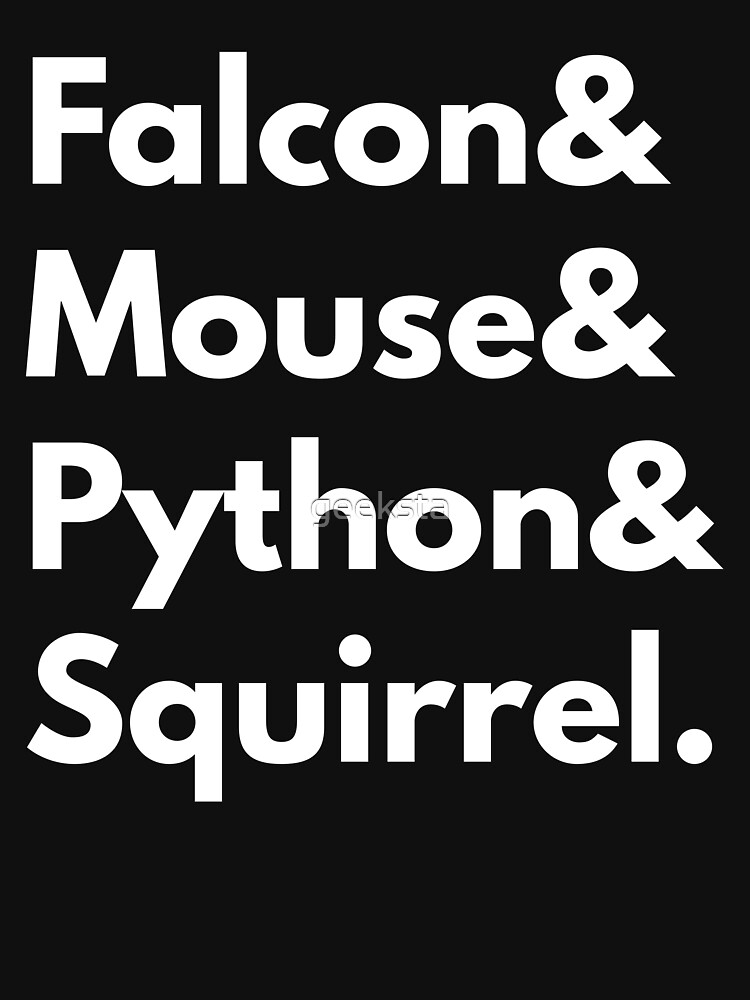Falcon Mouse Python Squirrel Programming Language Nerd Design by geeksta
