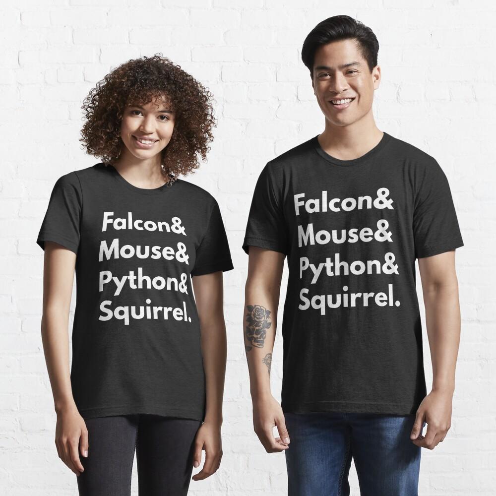 Falcon Mouse Python Squirrel Programming Language Nerd Design Essential T-Shirt