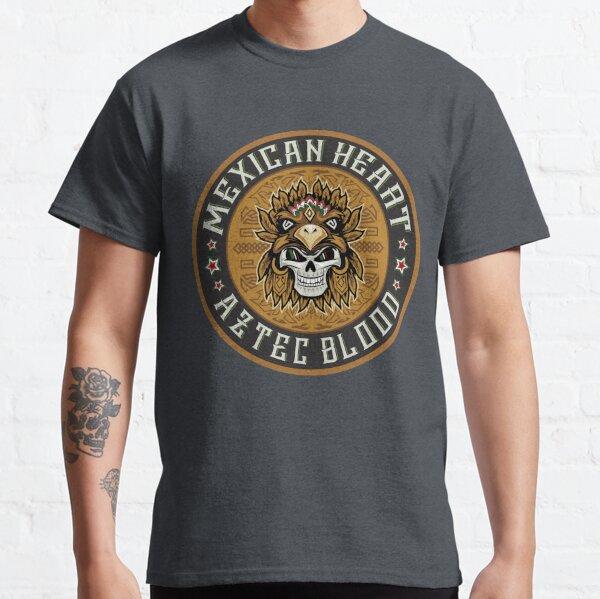 Mexican Heart, Aztec Blood Skull Emblem Classic T-Shirt