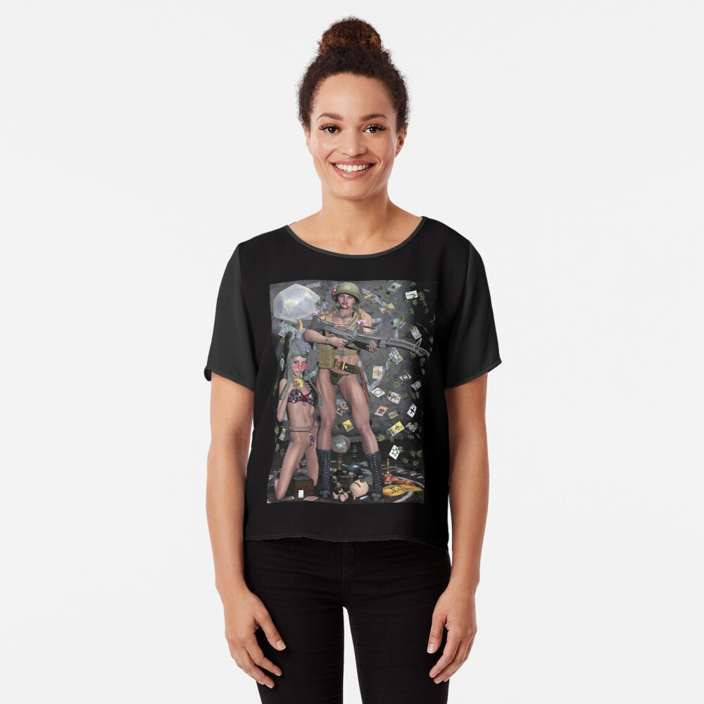 Hippie Witch First Earth Battalion Chiffon Top