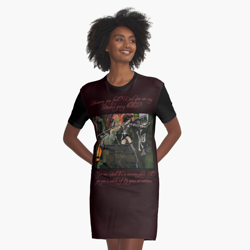 Pirate Ghost Witch Of The Caribbean  Graphic T-Shirt Dress