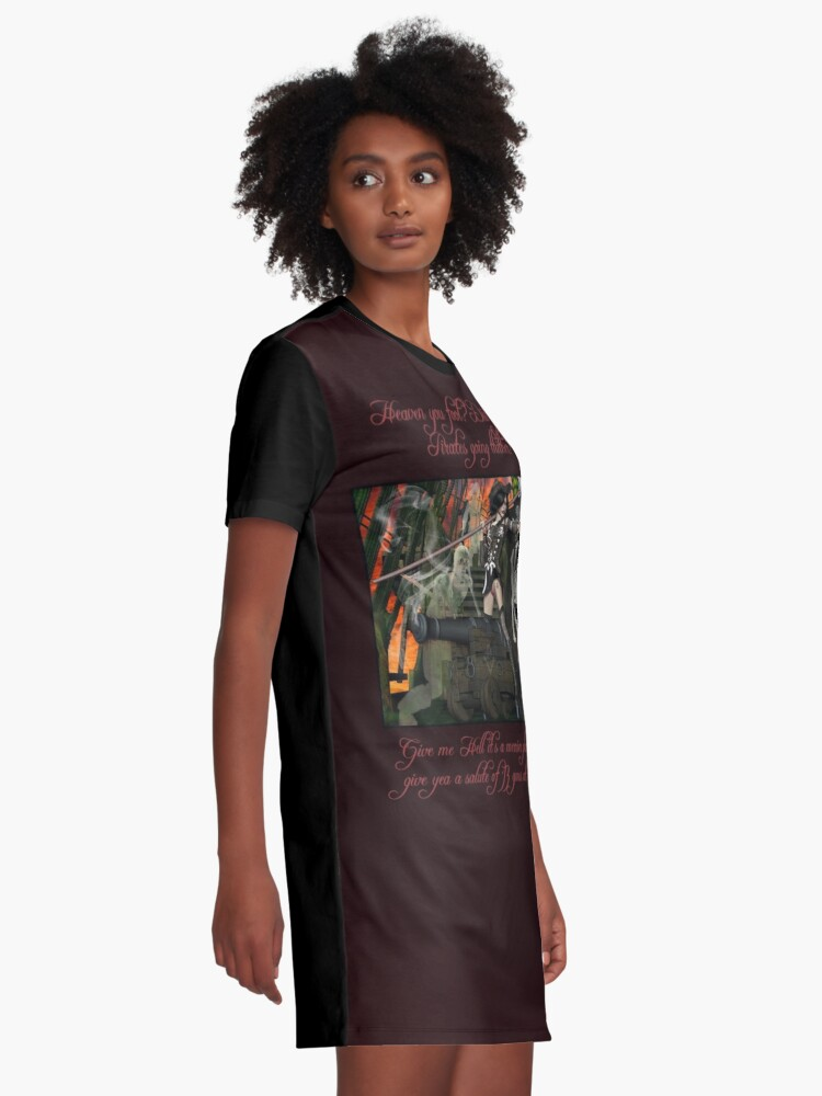 Alternate view of Pirate Ghost Witch Of The Caribbean  Graphic T-Shirt Dress