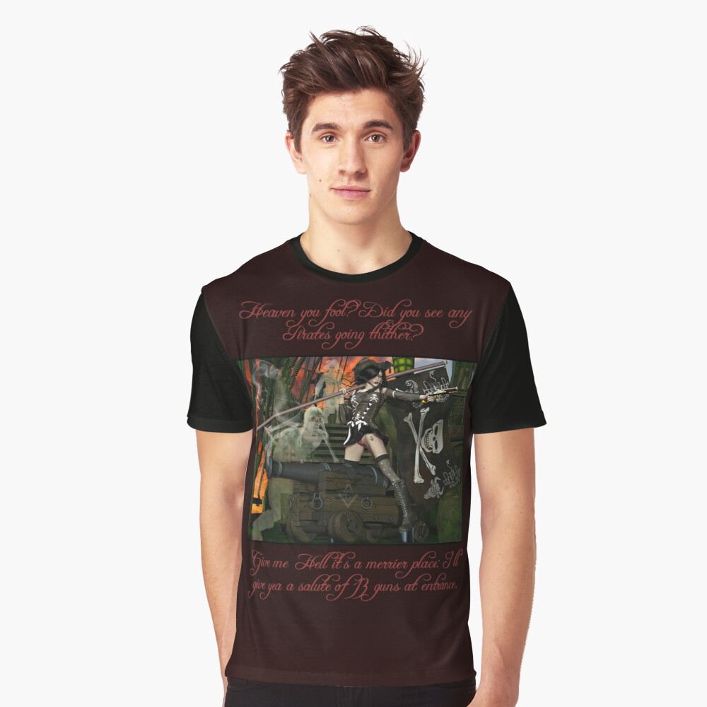 Pirate Ghost Witch Of The Caribbean  Graphic T-Shirt
