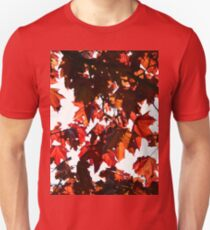 Red leaves on Tree Unisex T-Shirt