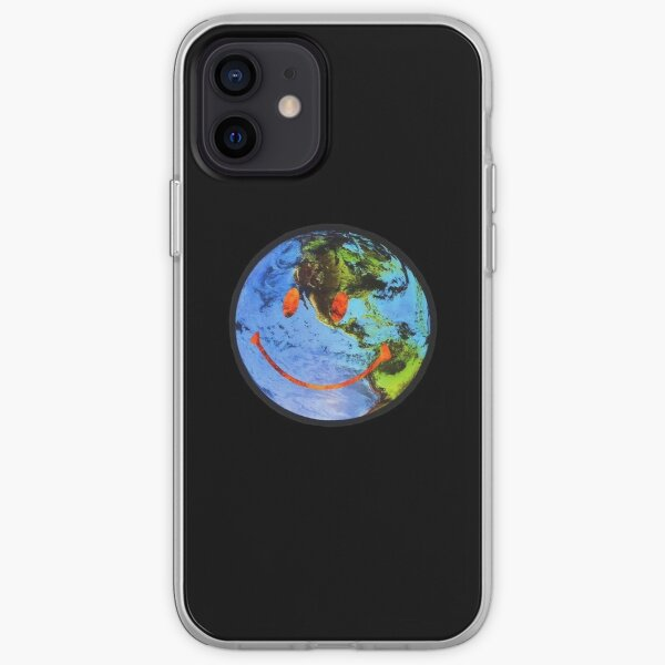 globe astroworld souriant Coque souple iPhone