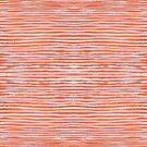 Orange Stripes Pattern by Jan Weiss