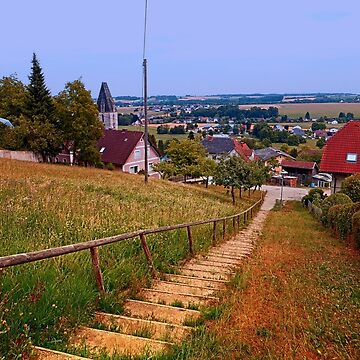 Stairway to the village center | landscape photography by patrickjobst
