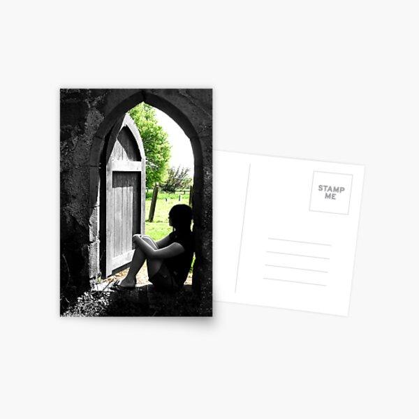 Through the dark Postcard