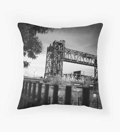 Cleveland - Bridge across the river Throw Pillow