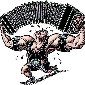 Bandoneon Strongman (color) by LisaHaney