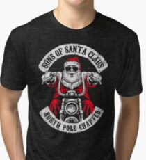 Sons of Anarchy - Biker Santa Tri-blend T-Shirt