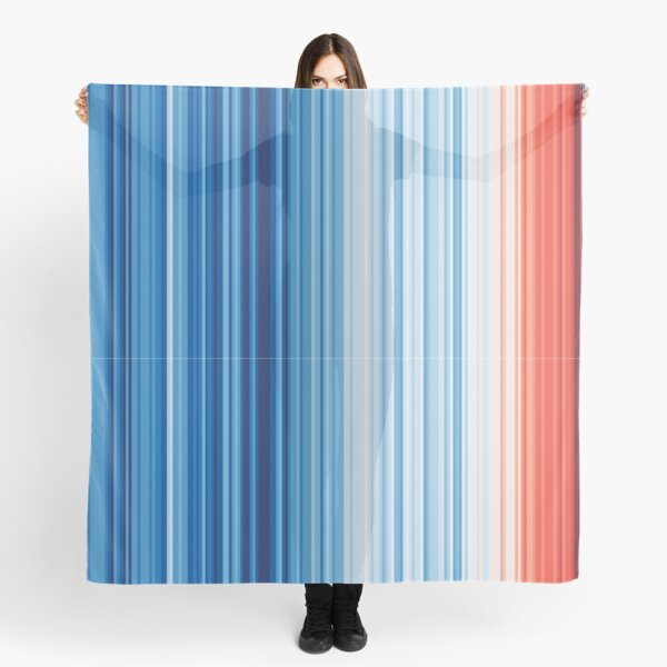 Earth's Climate Barcode Scarf