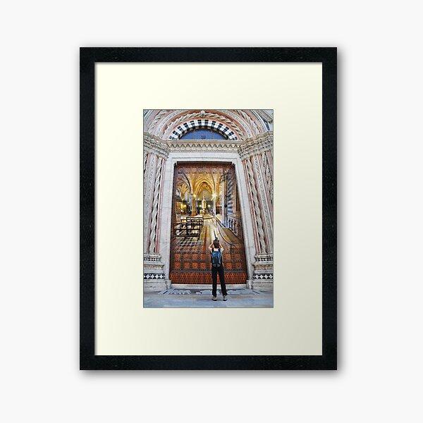 Remember Siena Framed Art Print