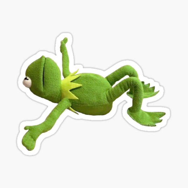 kermit couché Sticker