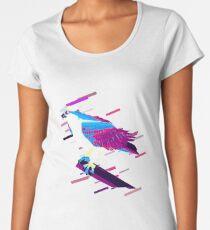 Eagle hawk Eighties Retro Violet and Purple Women's Premium T-Shirt
