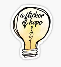 niall flicker lightbulb Sticker