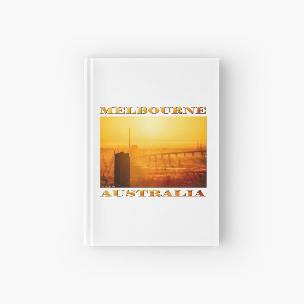 Hot in the City (poster on white) Hardcover Journal