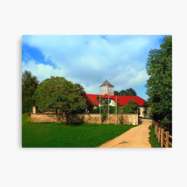 The pathway to Reichenau castle | architectural photography Canvas Print