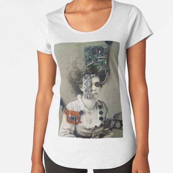 Robotoic Woman Premium Scoop T-Shirt