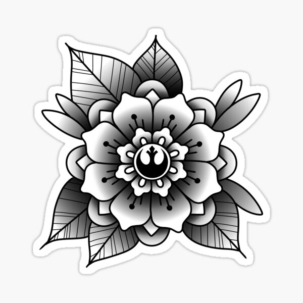 resistance flower Sticker