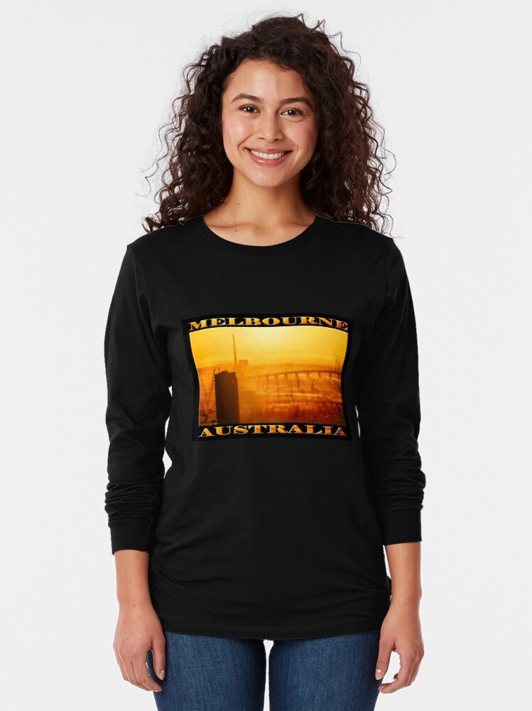 Alternate view of Hot in the City (widescreen poster on black) Long Sleeve T-Shirt