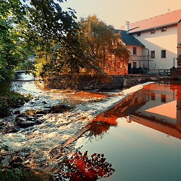 The river, a country house and reflections | waterscape photography by patrickjobst