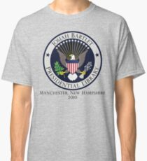 Josiah Bartlet Presidential Library Logo Classic T-Shirt