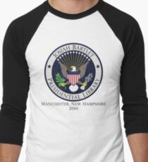 Josiah Bartlet Presidential Library Logo Men's Baseball ¾ T-Shirt