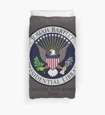 Josiah Bartlet Presidential Library Logo Duvet Cover