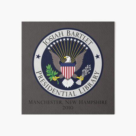 Josiah Bartlet Presidential Library Logo Art Board Print