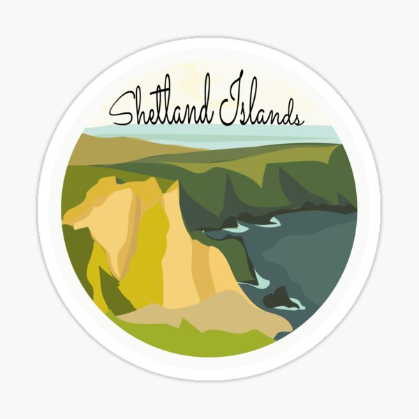 Shetland Islands Scotland Sticker