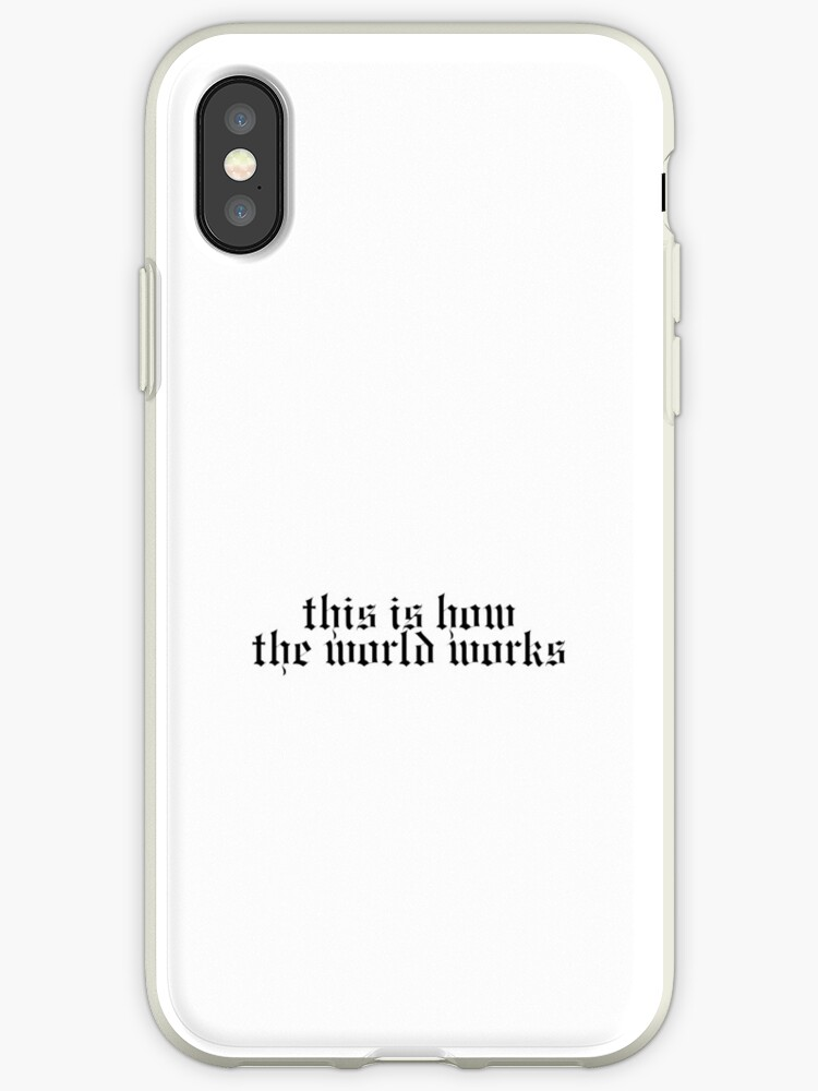 pretty nice 81124 c3f8a 'Taylor Swift - This Is How The World Works' iPhone Case by vcfc