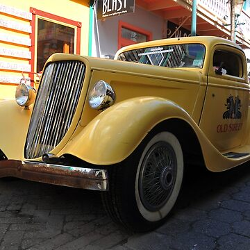 Yellow,old car by erozzz